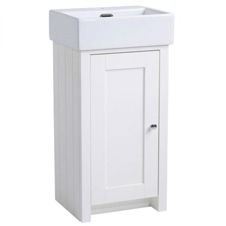 Tavistock Lansdown 400mm Cloakroom Unit with Basin - Linen White