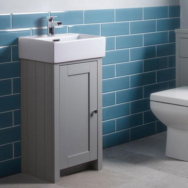 Tavistock Lansdown 400mm Cloakroom Unit with Basin - Pebble Grey profile large image view 2