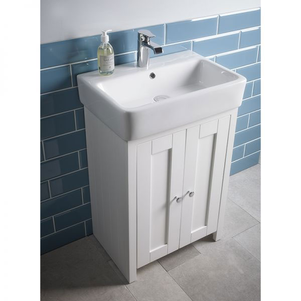 Tavistock Lansdown 550mm Freestanding Unit with Basin - Linen White Profile Large Image