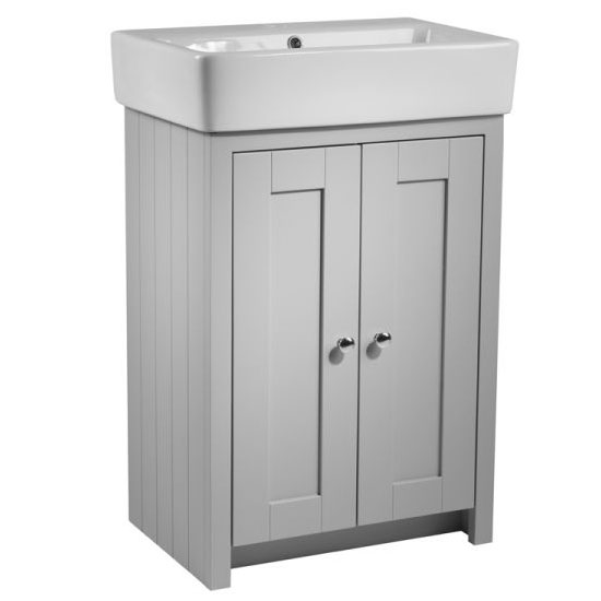 Tavistock Lansdown 550mm Freestanding Unit with Basin - Pebble Grey Large Image