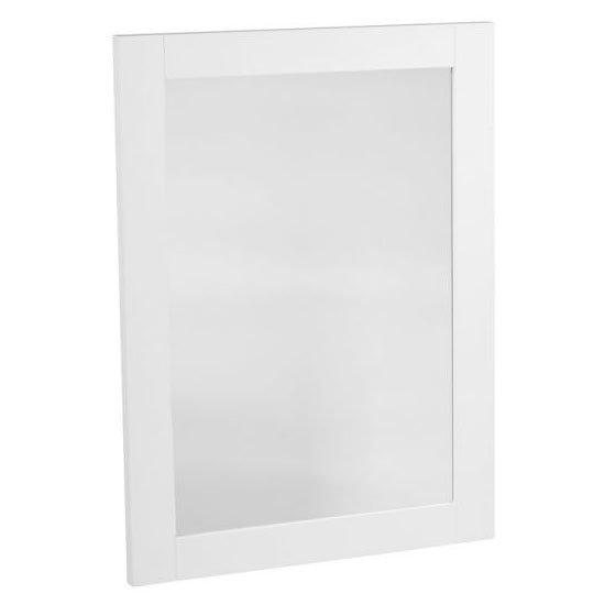 Tavistock Lansdown 570mm Wooden Framed Mirror - Linen White Large Image