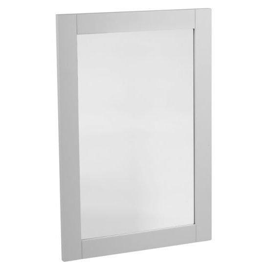 Tavistock Lansdown 570mm Wooden Framed Mirror - Pebble Grey Large Image