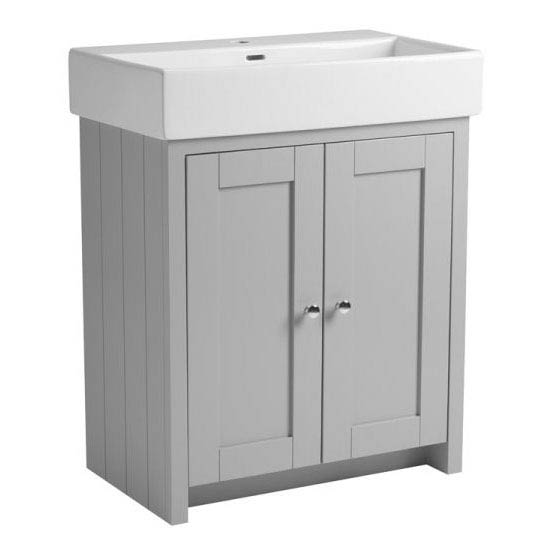 Tavistock Lansdown 700mm Freestanding Unit with Basin - Pebble Grey Large Image
