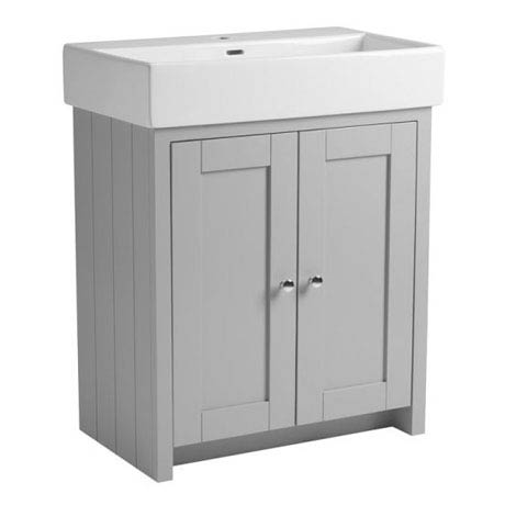 Tavistock Lansdown 700mm Freestanding Unit with Basin - Pebble Grey