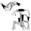 Lancaster Black Traditional Tap Package (Bath + Basin Tap) profile small image view 1