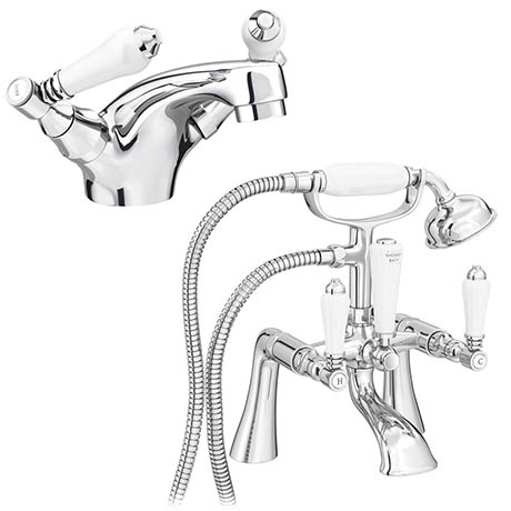 Lancaster Traditional Tap Package (Bath + Basin Tap)