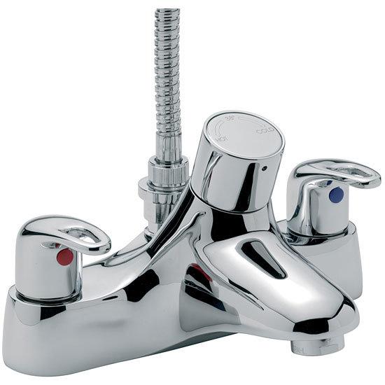 Tre Mercati - Latina Thermostatic Deck Bath/Shower Mixer - 25057 Large Image