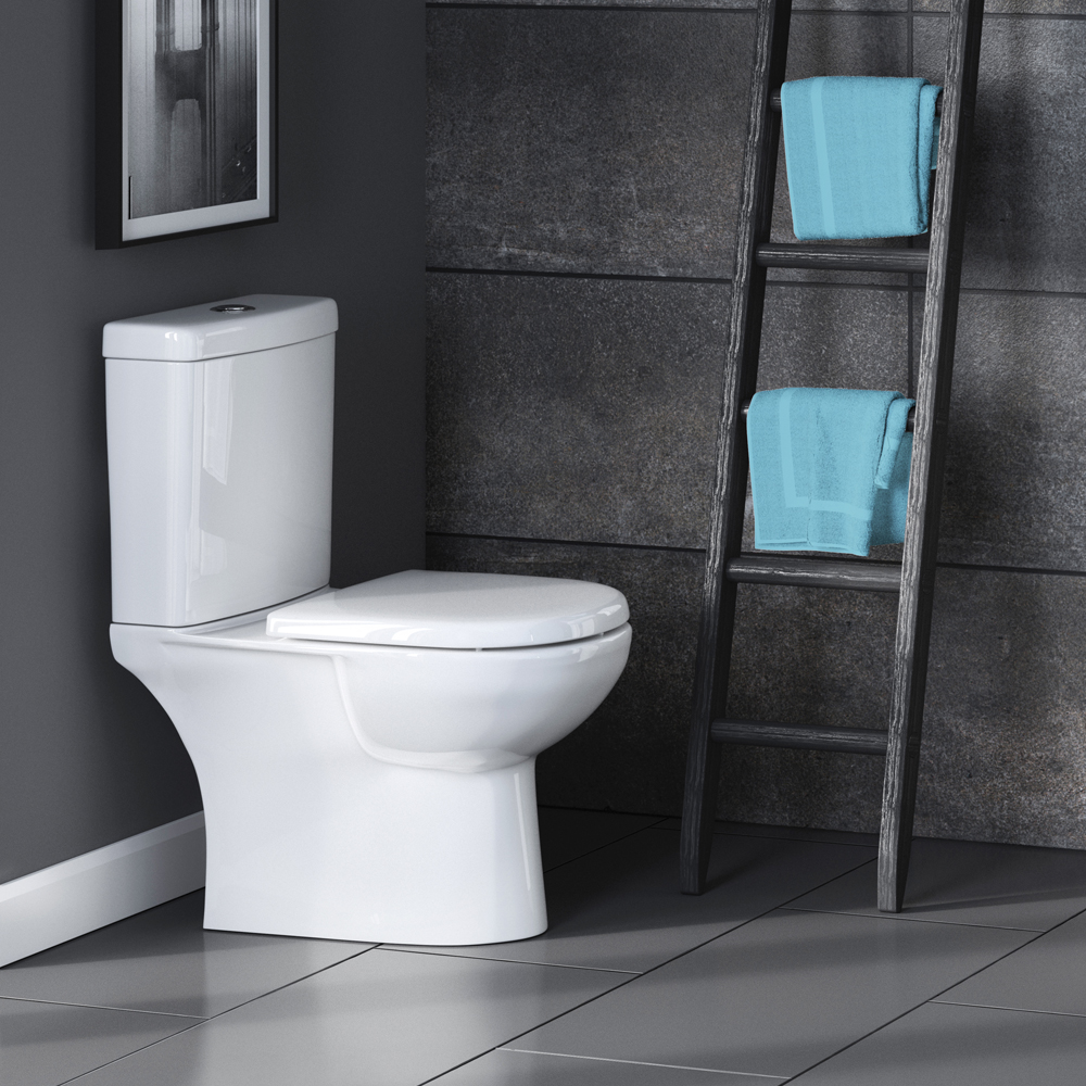 Premier Lawton Close Coupled Toilet with Soft Close Seat profile large image view 2