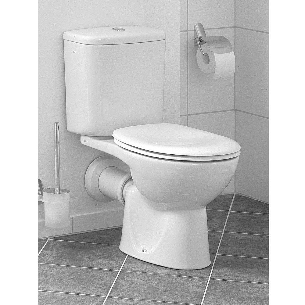 Vitra - Layton Close Coupled Toilet (Open Back) Profile Large Image