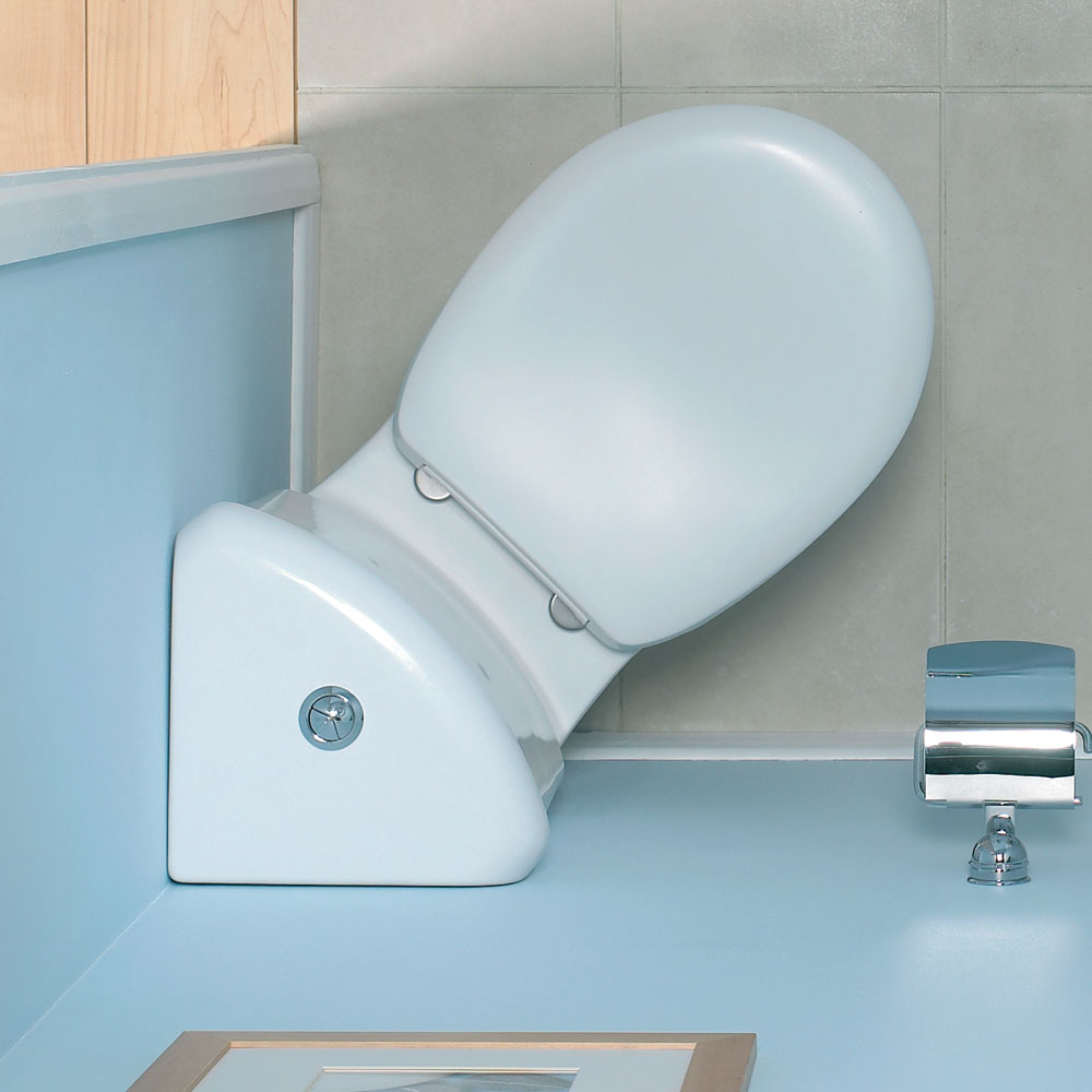 Vitra - Layton Corner Close Coupled Toilet (Open Back) | Small Toilet Ideas
