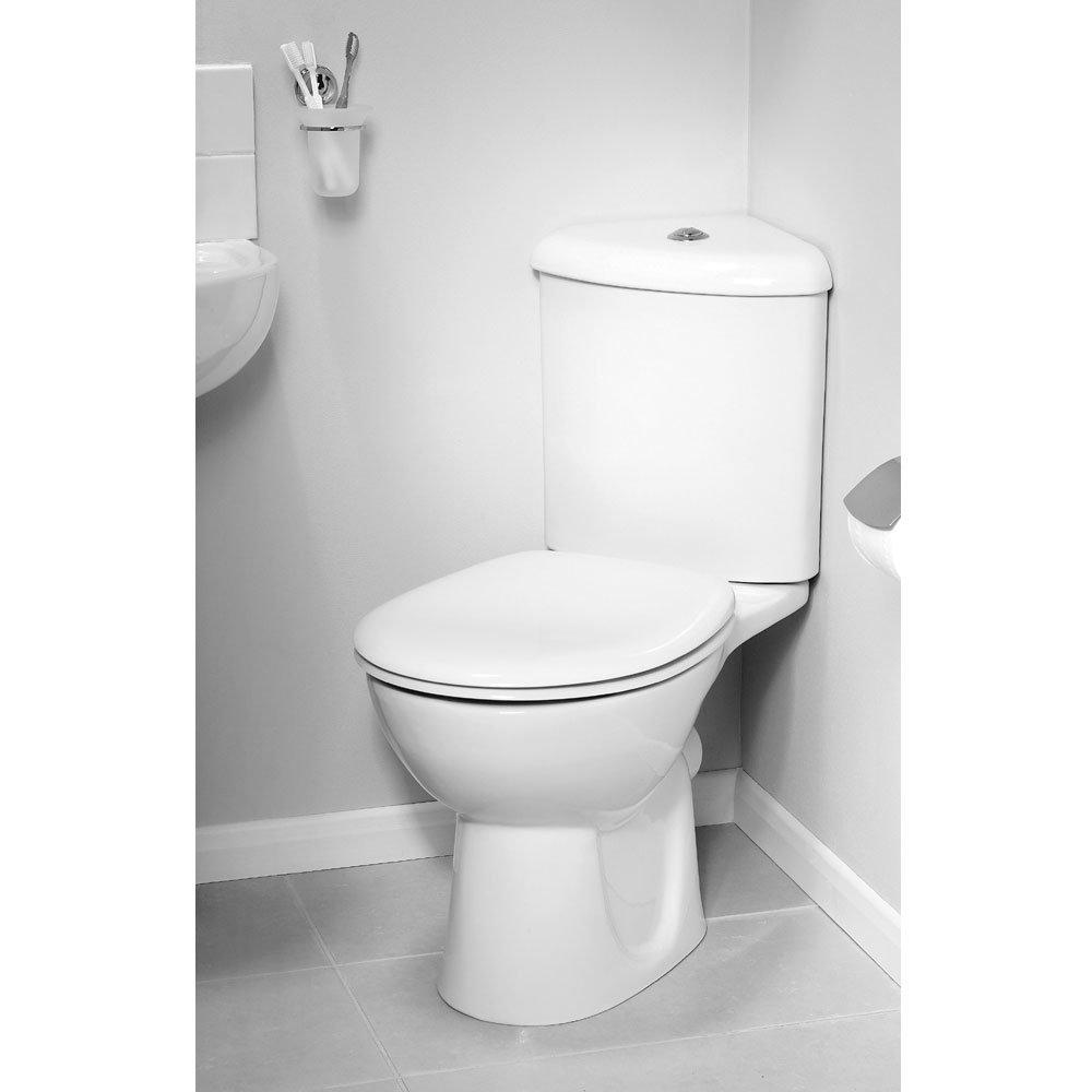 Vitra - Layton Corner Close Coupled Toilet (Open Back) profile large image view 3