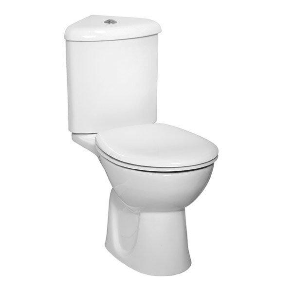 Vitra - Layton Corner Close Coupled Toilet (Open Back) Large Image