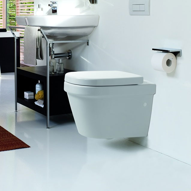 Laufen - Lb3 Classic Wall Hung Pan with Toilet Seat - LB3WC3 profile large image view 2