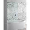 Simpsons Elite Hinged Bath Screen - 900mm profile small image view 1