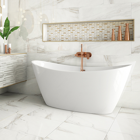 Sofia 1700 x 800mm Modern Double Ended Freestanding Bath
