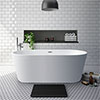 Brooklyn 1700 x 800mm Double Ended Freestanding Bath profile small image view 1