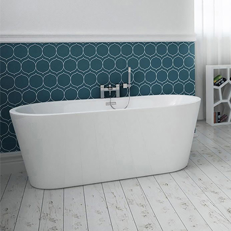 Brooklyn 1500 x 750mm Small Double Ended Free Standing Bath