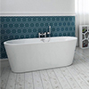 Brooklyn 1500 x 750mm Small Double Ended Free Standing Bath profile small image view 1