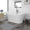 Sorrento 1720 x 790mm Modern Double Ended Freestanding Bath profile small image view 1