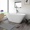 Windsor Sorrento 1720 x 790mm Modern Double Ended Freestanding Bath profile small image view 1