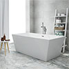 Windsor Kubic 1700 x 800mm Double Ended Free Standing Bath profile small image view 1