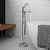 Lancaster Traditional Chrome Single Lever Freestanding Bath Shower Mixer profile small image view 1