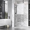 Roman Liberty Black Clear Glass Wetroom Screen + Ceiling Arm Support - Various Sizes (2000mm High) profile small image view 1