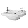 Old London - Richmond 515 x 300mm 2TH Cloakroom Basin - LDC829 profile small image view 1