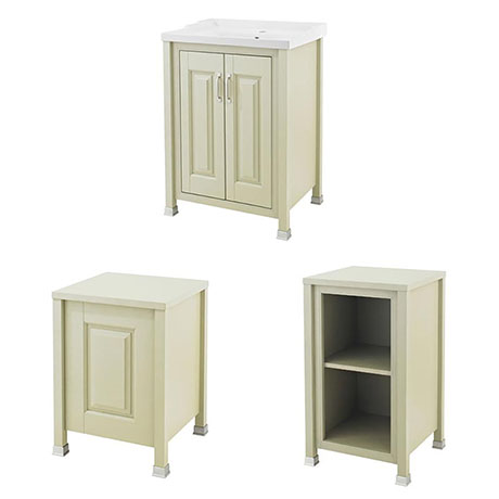Old London Traditional 600mm Wide Cabinet Package - Pistachio