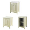 Old London Traditional 600mm Wide Cabinet Package - Pistachio profile small image view 1