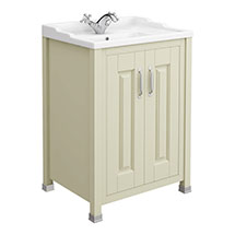 Old London - 600 Traditional 2-Door Basin & Cabinet - Pistachio - LDF203 Medium Image