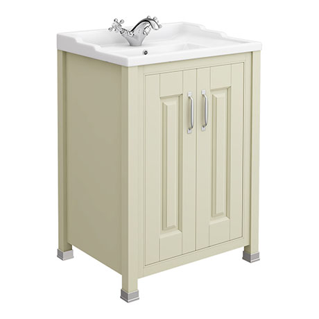 Old London - 600 Traditional 2-Door Basin & Cabinet - Pistachio - LDF203