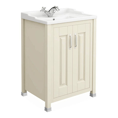 Old London - 600 Traditional 2-Door Basin & Cabinet - Ivory - LDF303