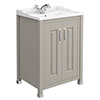 Old London - 600 Traditional 2-Door Basin & Cabinet - Stone Grey - LDF403 profile small image view 1