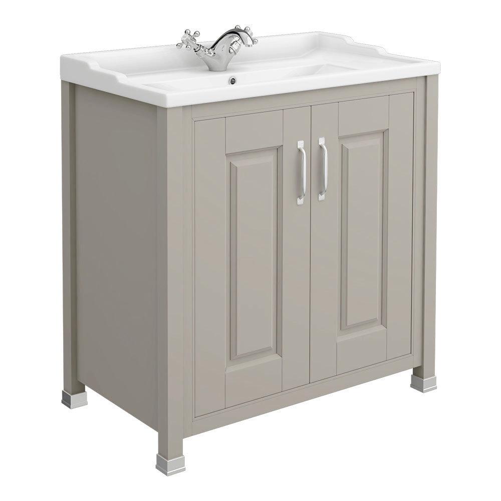 Old London - 800 Traditional 2-Door Basin & Cabinet - Stone Grey - LDF405