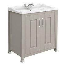 Old London - 800 Traditional 2-Door Basin & Cabinet - Stone Grey - LDF405 Medium Image