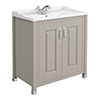 Old London - 800 Traditional 2-Door Basin & Cabinet - Stone Grey - LDF405 Medium Image