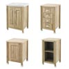 Old London Traditional 600mm Wide Cabinet Package - Natural Walnut profile small image view 1