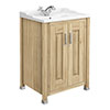 Old London - 600 Traditional 2-Door Basin & Cabinet - Natural Walnut - LDF503 profile small image view 1