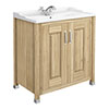 Old London - 800 Traditional 2-Door Basin & Cabinet - Natural Walnut - LDF505 profile small image view 1