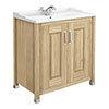 Old London - 800 Traditional 2-Door Basin & Cabinet - Natural Walnut - LDF505 Medium Image