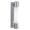 Searchlight Poplar Chrome Low Energy Wall Light with Flourescent Tube - LE2208CC profile small image view 1