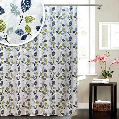 Leaf W1800 x H1800mm Polyester Shower Curtain