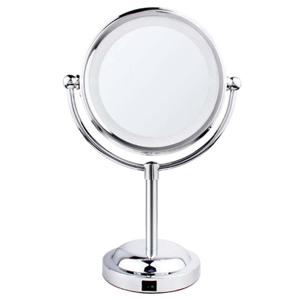 LED Illuminated Free Standing Cosmetic Mirror Large Image