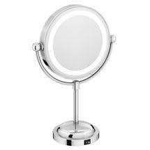 LED Illuminated Free Standing Cosmetic Mirror Medium Image