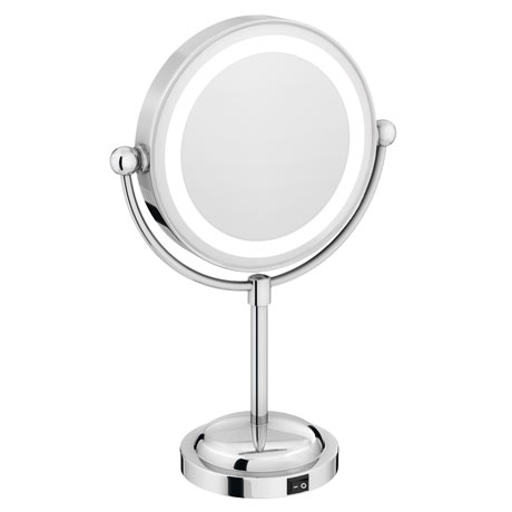 LED Illuminated Free Standing Cosmetic Mirror