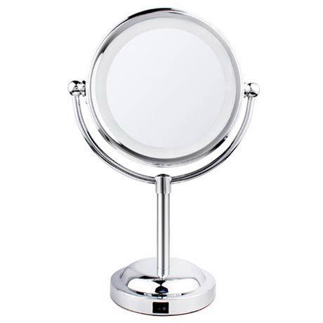 LED Illuminated Free Standing Cosmetic Mirror