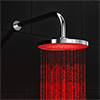 Cruze 200mm Round LED Shower Head with Wall Mounted Arm - Chrome profile small image view 1