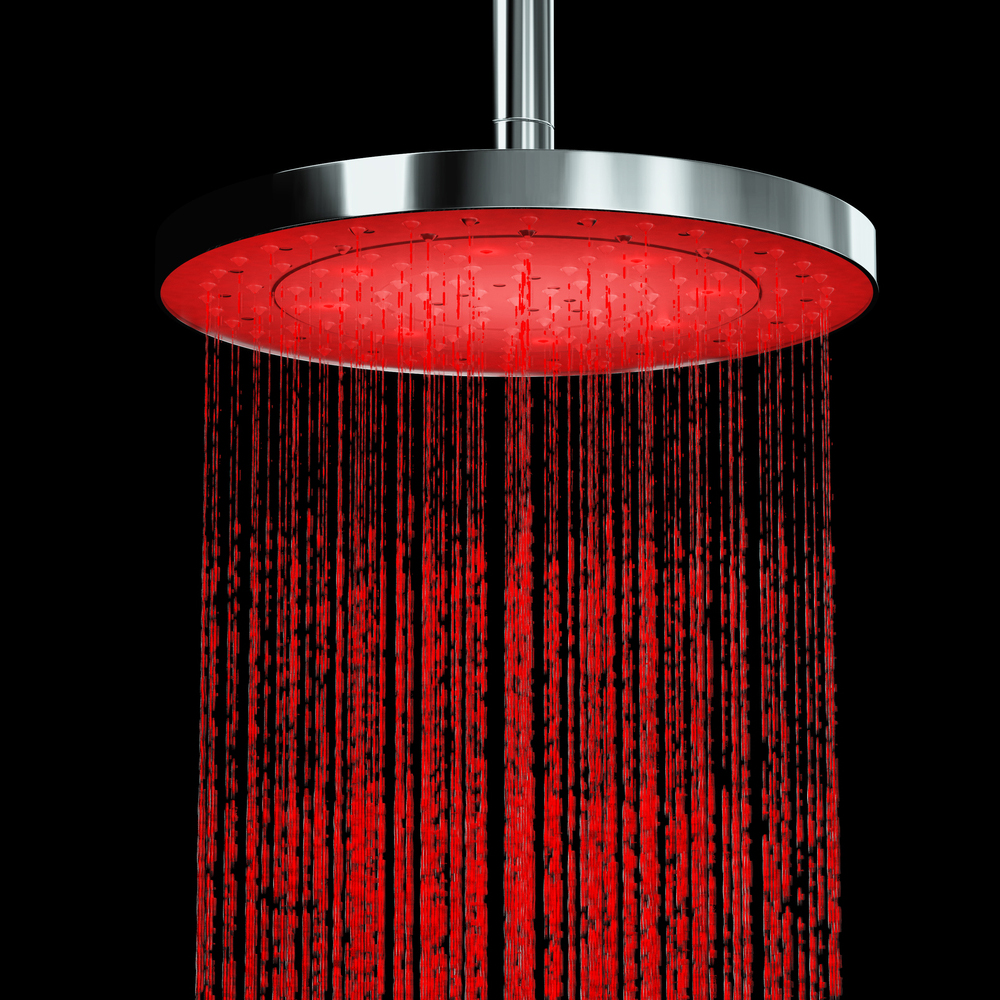 Cruze 200mm Round LED Chrome Shower Head