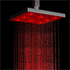 Milan 200 x 200mm Square LED Chrome Shower Head profile small image view 1